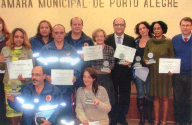 Prêmio: Destaque em Saúde do Conselho Municipal de Saúde de Porto Alegre